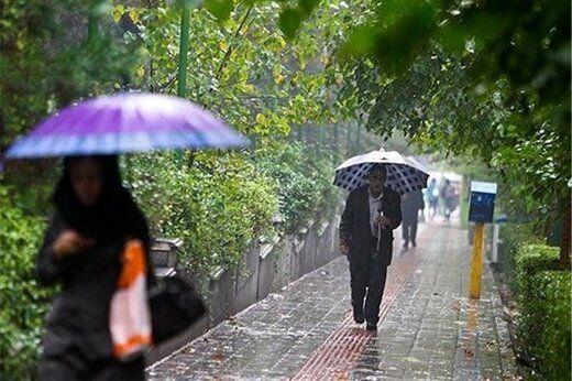 پیشبینی بارندگی در تهران