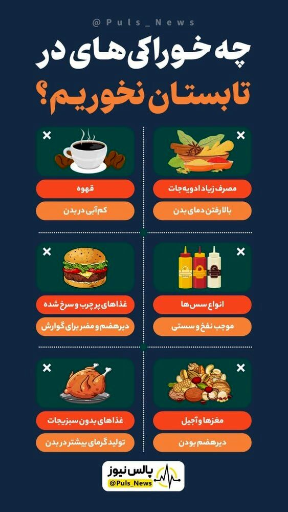 اینفوگرافیک | چه خوراکیهایی را در تابستان نباید بخوریم؟
