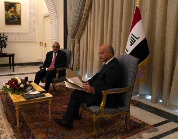 نامه شاه اردن تسلیم رئیس جمهوری عراق شد