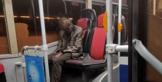 کشف مرد مُرده در اتوبوس واحد تهران+ عکس