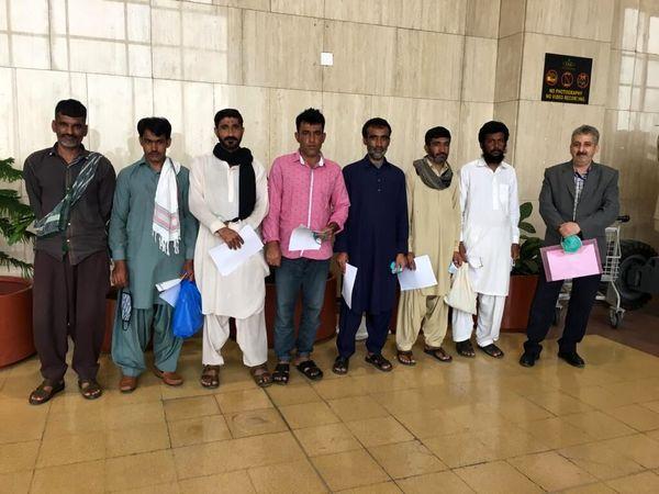 آزادی 7 ملوان ایرانی از زندان پاکستان