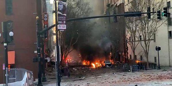 سیانان: حجم مواد منفجره در حادثه نشویل در آمریکا بیسابقه است