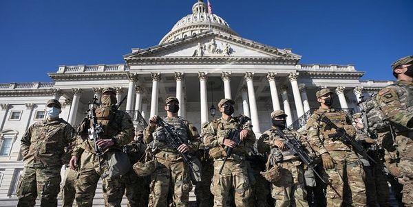 750 نیروی گارد ملی مراسم تحلیف بایدن کرونا گرفتند