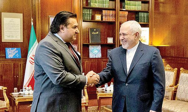 دیدار سفیر جدید پاکستان با ظریف