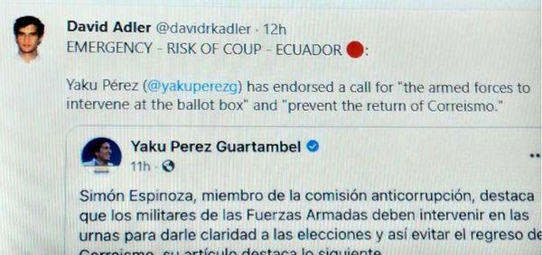 هشدار نهادهای بینالمللی درباره خطر کودتای انتخاباتی در اکوادور