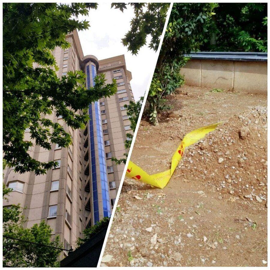 عکس | محل سقوط و کشف جسد دبیر اول سفارت سوئیس در کامرانیه