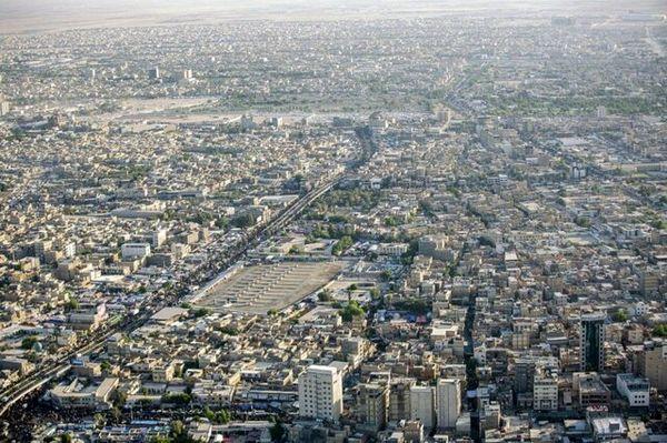بازدید هوایی فرمانده عملیات بغداد از روند طرح امنیتی مراسم اربعین+عکس