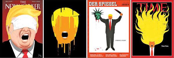 جنجالیترین طرحهای ترامپ در مجلات مشهور