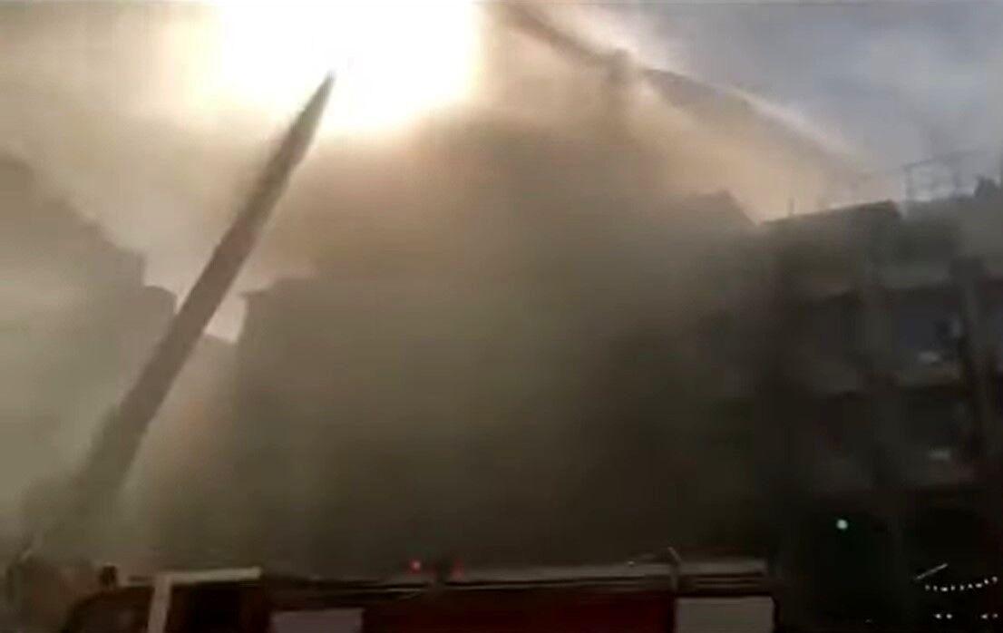 آتش سوزی هتل زائران در کربلا خاموش شد