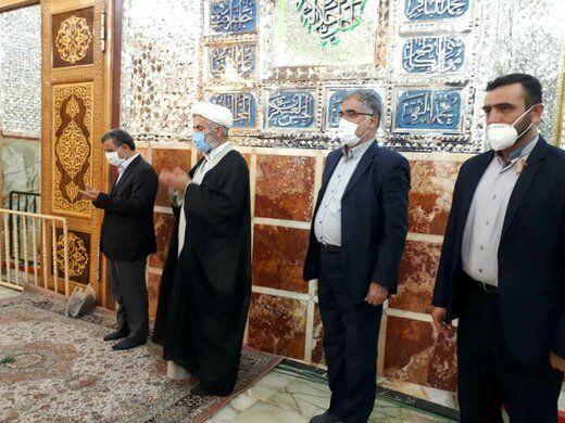 تصاویری از حضور احمدی نژاد در قم