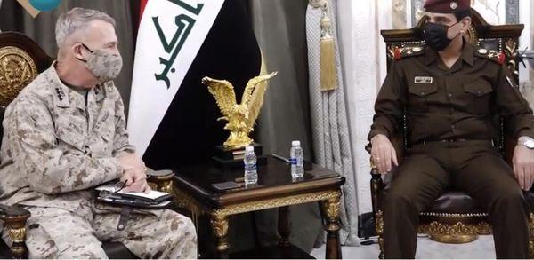 دیدار  فرمانده سنتکام با رئیس ستاد ارتش عراق