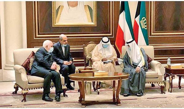 دیدار ظریف با امیر جدید کویت