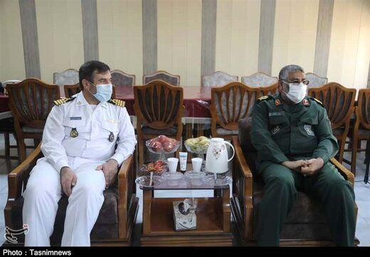 فرماندهان دریایی سپاه و ارتش با یکدیگر دیدار کردند + عکس