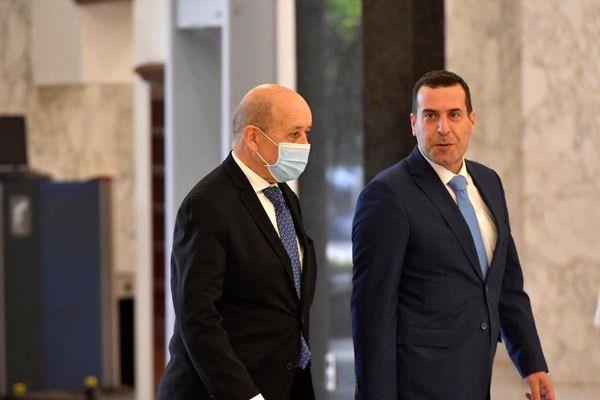 دیدار وزیر خارجه فرانسه با میشل عون