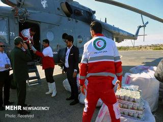 ارسال مواد غذایی به مناطق سیل زده هرمزگان
