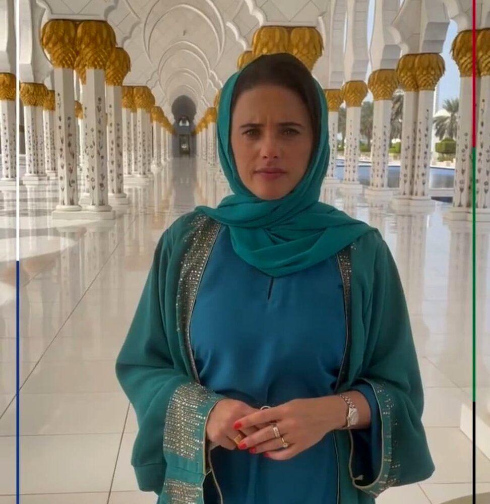 حضور وزیر صهیونیست در مسجد شیخ زاید/عکس