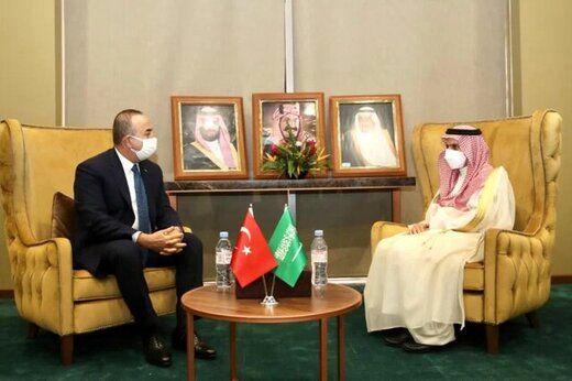 دیدار وزیران خارجه ترکیه و عربستان