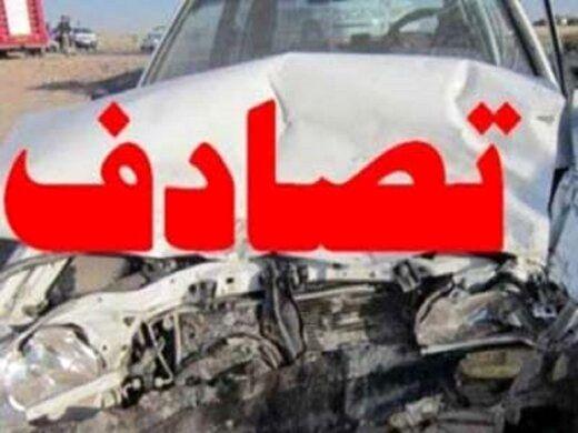 تصادف مرگبار پراید و کامیون در تهران / عکس