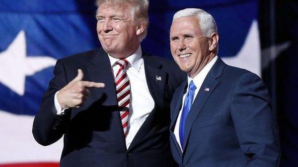 دیدار پنس و ترامپ در کاخ سفید