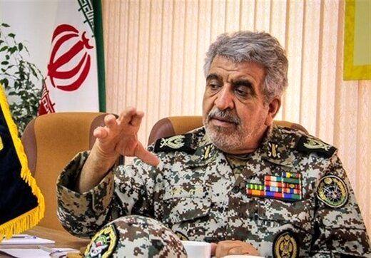 هشدار فرمانده ارتشی به آذربایجان و ارمنستان: نسبت به مسائل مرزی قاطعانه برخورد میکنیم