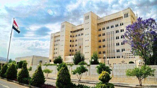 واکنش سوریه به حملات اسرائیل به حمص