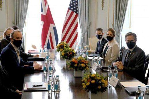 دیدار  و رایزنی وزیران خارجه انگلیس و آمریکا