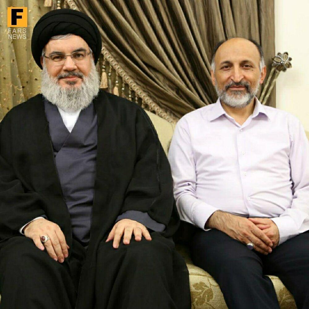 عکس کمتر دیده شده از سردار حجازی در کنار سید حسن نصرالله