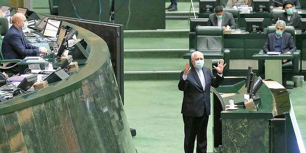 دو کارت زرد مجلس به ظریف در یک روز
