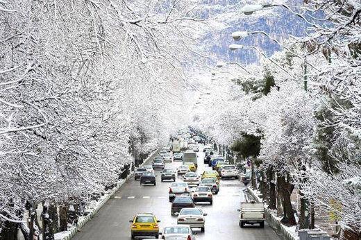 بارش باران و برف در ۱۲ استان کشور