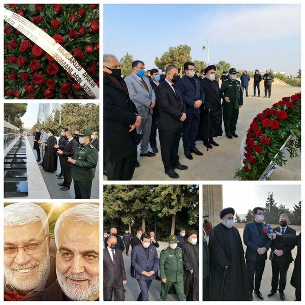 ادای احترام به سرداران شهید ایران و عراق در باکو