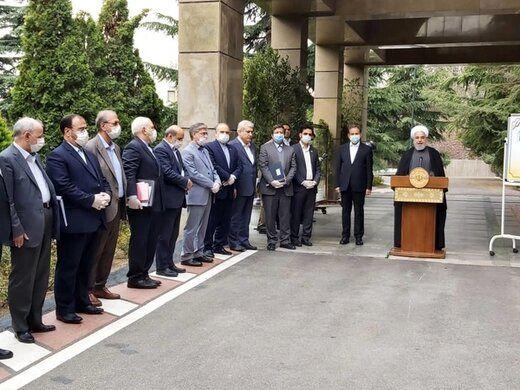 روحانی: در موضوع کرونا با مردم صریح بودیم /افتتاح طرحهای عظیم، سیلی به آمریکاست/ علما و مراجع تحجر را شکستند