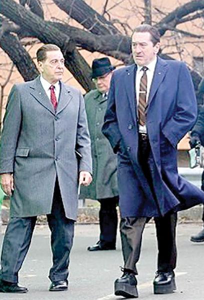 اختلاف قد رابرت دنیرو و آلپاچینو با کفش پاشنه بلند