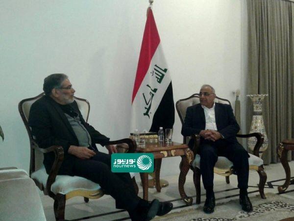 عکس  دیدار شمخانی با عادل عبدالمهدی در بغداد