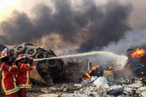 صدای انفجار مهیب بیروت در فاصله 240 کیلومتری به گوش رسید