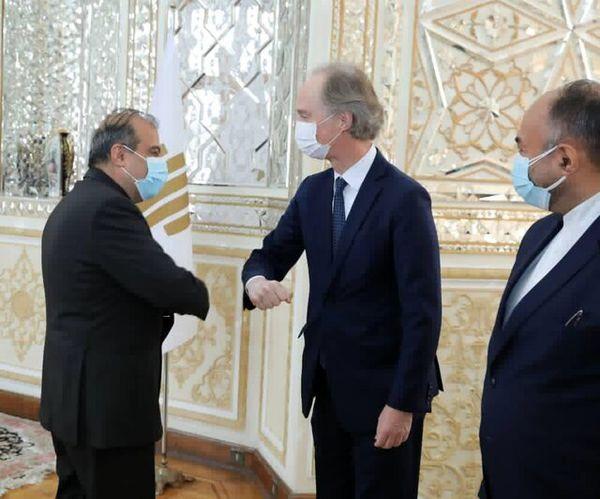 رایزنی نماینده ویژه دبیرکل سازمان ملل در امور سوریه با دستیار ارشد ظریف