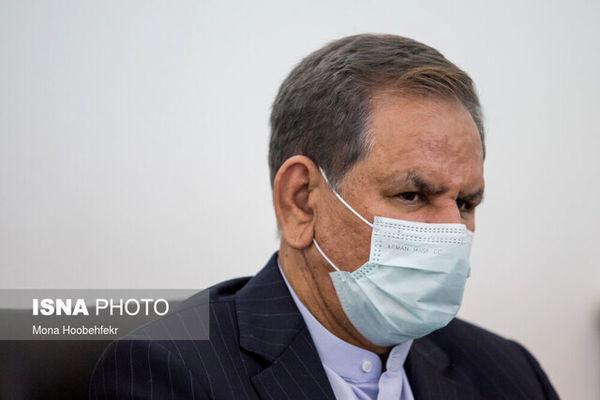 حضور جهانگیری در جلسه بررسی صلاحیت رزم حسینی