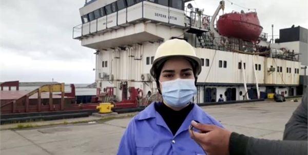 شروع فعالیت نخستین بانوی ملوان ایرانی در دریای خزر
