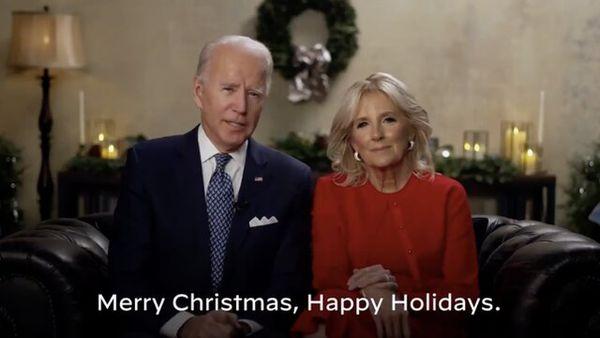 پیام کریسمسی بایدن و همسرش