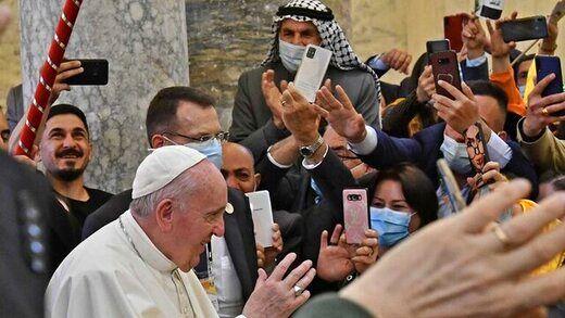 پاپ از عراق رفت