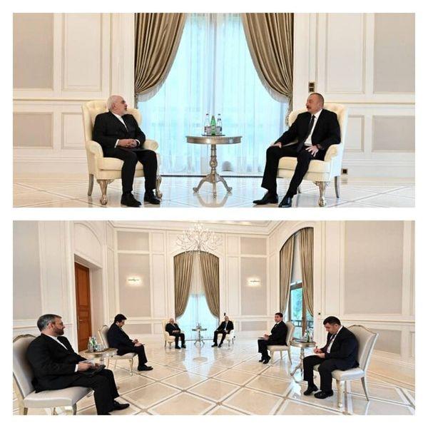 ظریف با الهام علیاف دیدار کرد